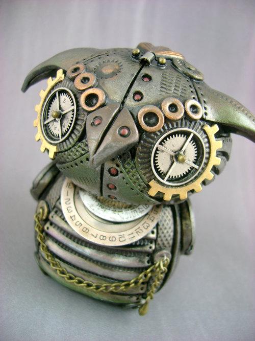 Steampunk Themed Polymer Clay Sculptures by Monster Kookies | Die ...