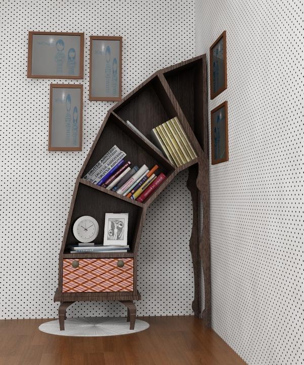leaning bookshelves plans