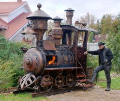 Steampunk Locomotive Grill