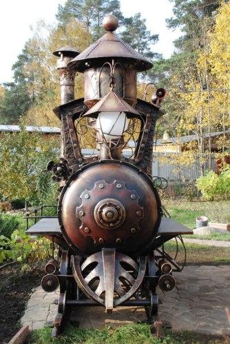 Steampunk Locomotive Grill
